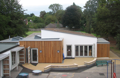 st faiths school classroom upgrade retrofit project coloured finishes ground floor plan
