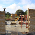 pear tree farm on site photograph with the blockwork walls almost complete