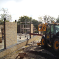 pear tree farm work progressing on site photograph blockwork walls and opening